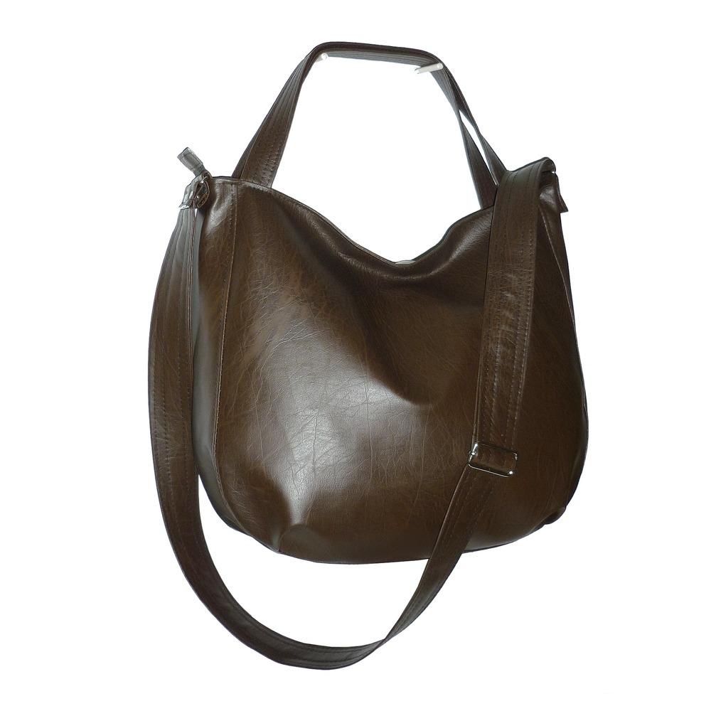 8915ca8fd76c7 torby na ramię - damskie-czekoladowa torba 3w1, czekoladowa torebka