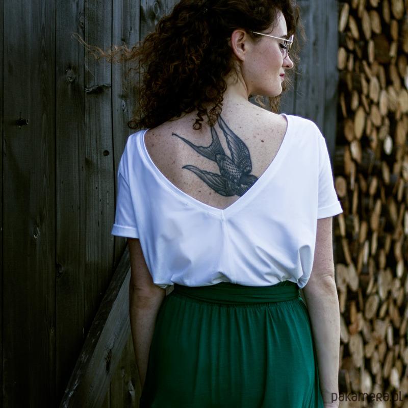 Bluzka V-NECK biała