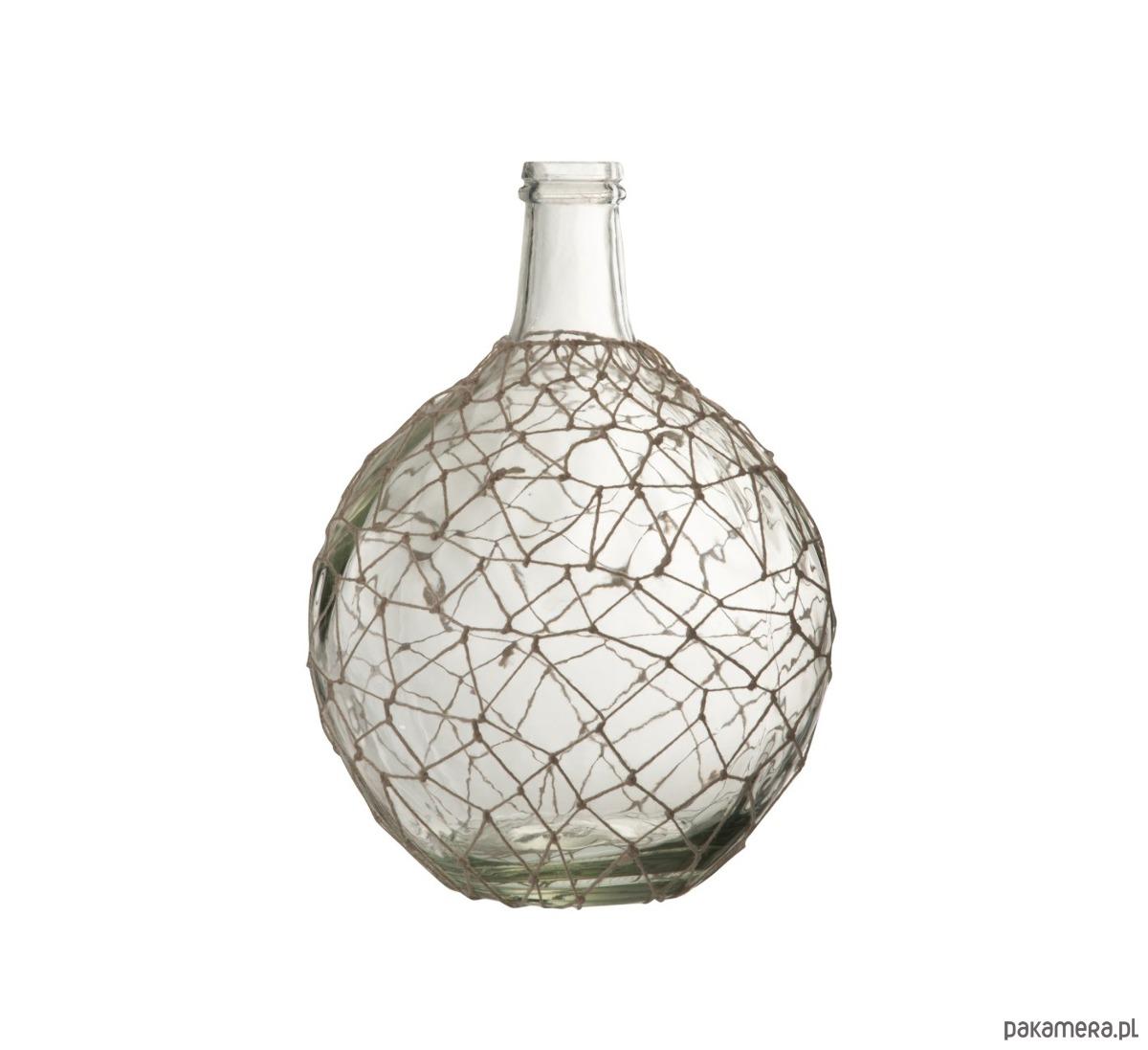 Wazon Dekoracyjny Ball Z Siatką Szkło 38x27 Cm Pakamerapl