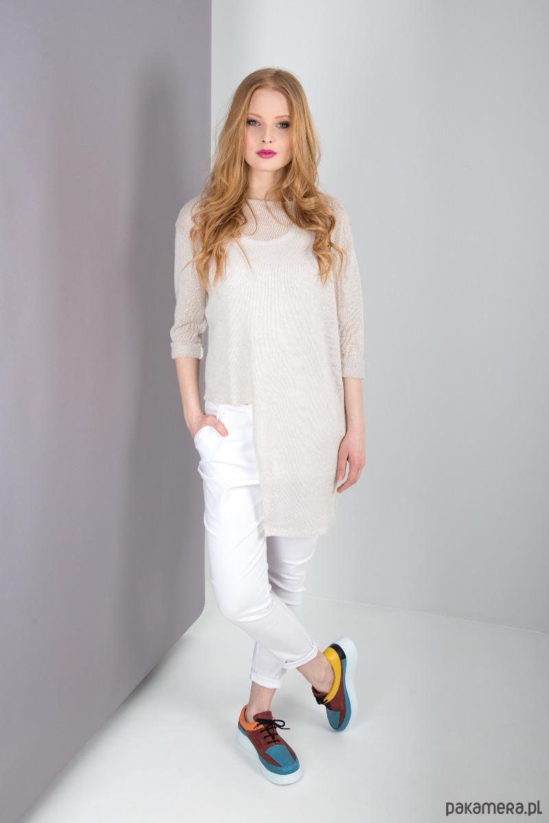 MIA PANTS Spodnie damskie białe
