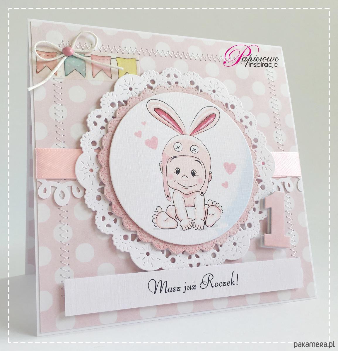 Poważnie Kartka urodzinowa roczek dziewczynki - kartki okolicznościowe NV14