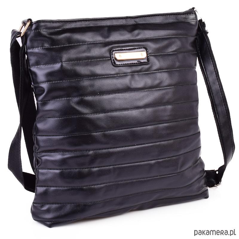 72731b858af72 Listonoszka pikowana NONI czarny - torby na ramię - damskie ...