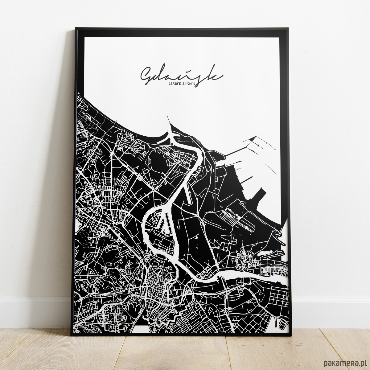 Plakat Gdańsk Mapa Pakamerapl