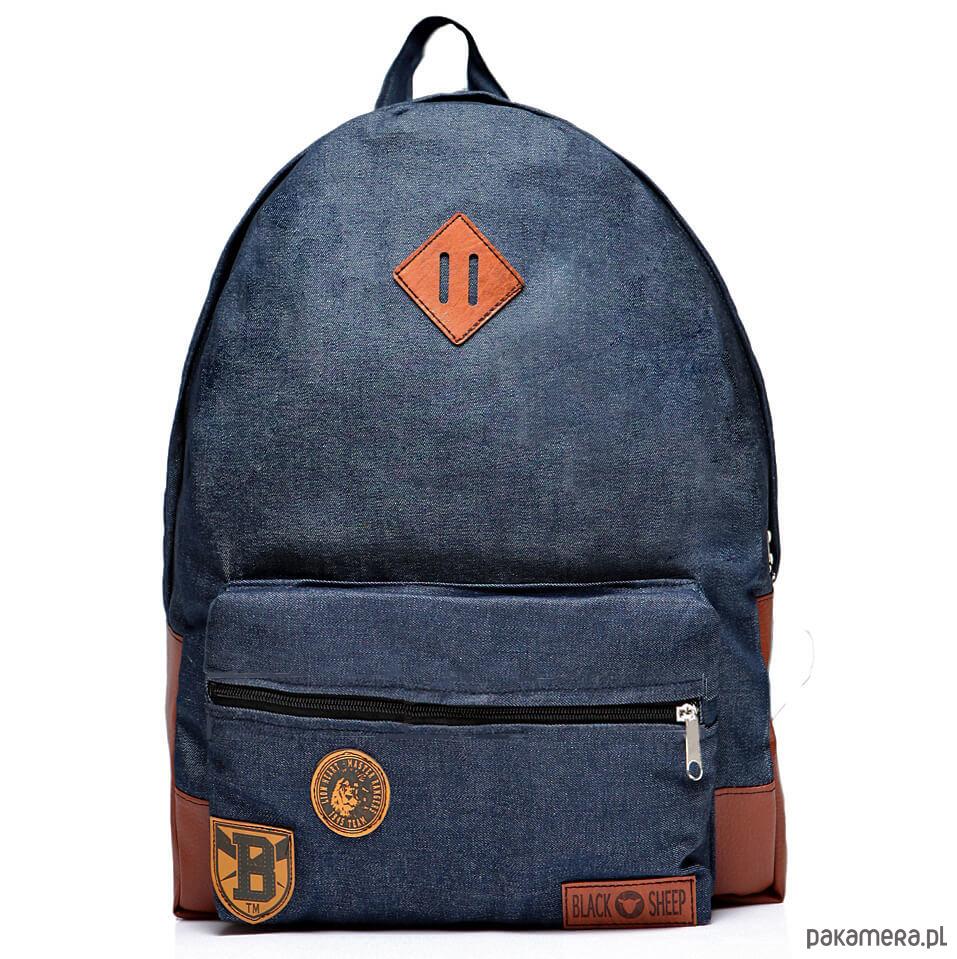 8011376d7ee3f Plecak szkolny damski jeansowy niebieski worek - plecaki - Pakamera.pl