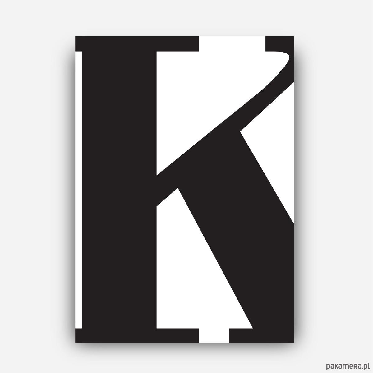 Plakat Typograficzny Litera K Plakaty Pakamerapl
