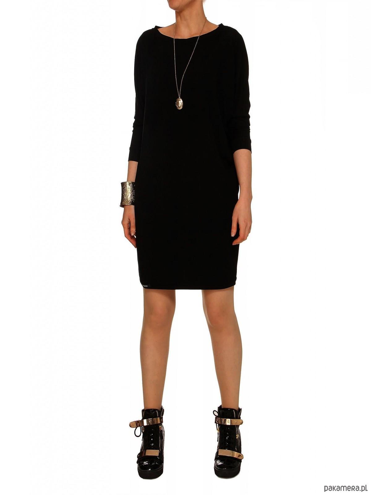 Sukienka czarna YY100059_RAL9005