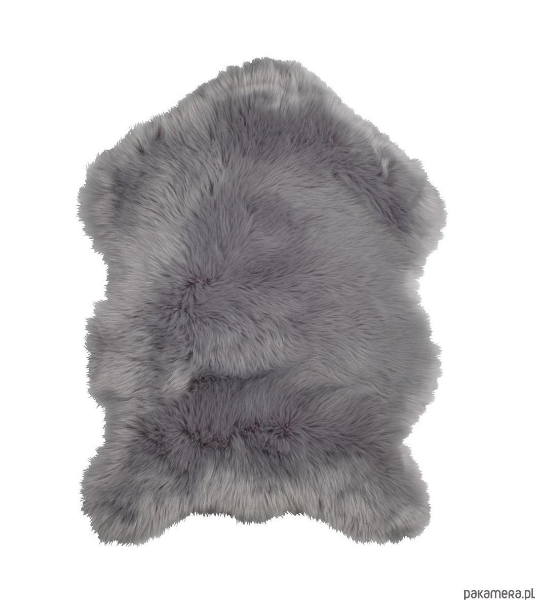 Skóra owcza sztuczna szara 60x90cm futerko