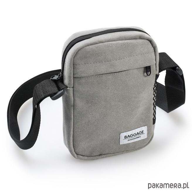 3c74f2360ef3d akcesoria - torby i nerki - męskie-Listonoszka torebka męska szara Baggage