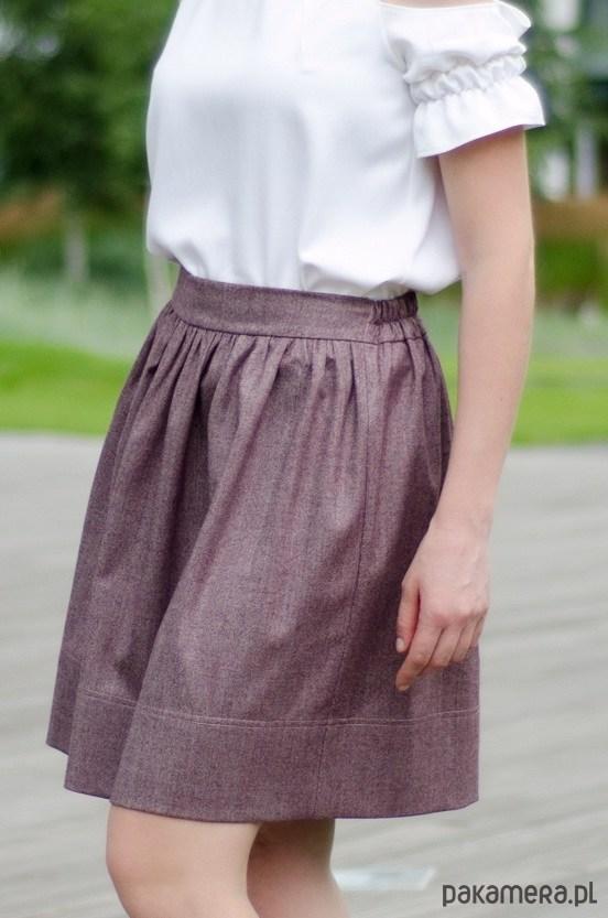 Spódnica śliwkowa MOLLY