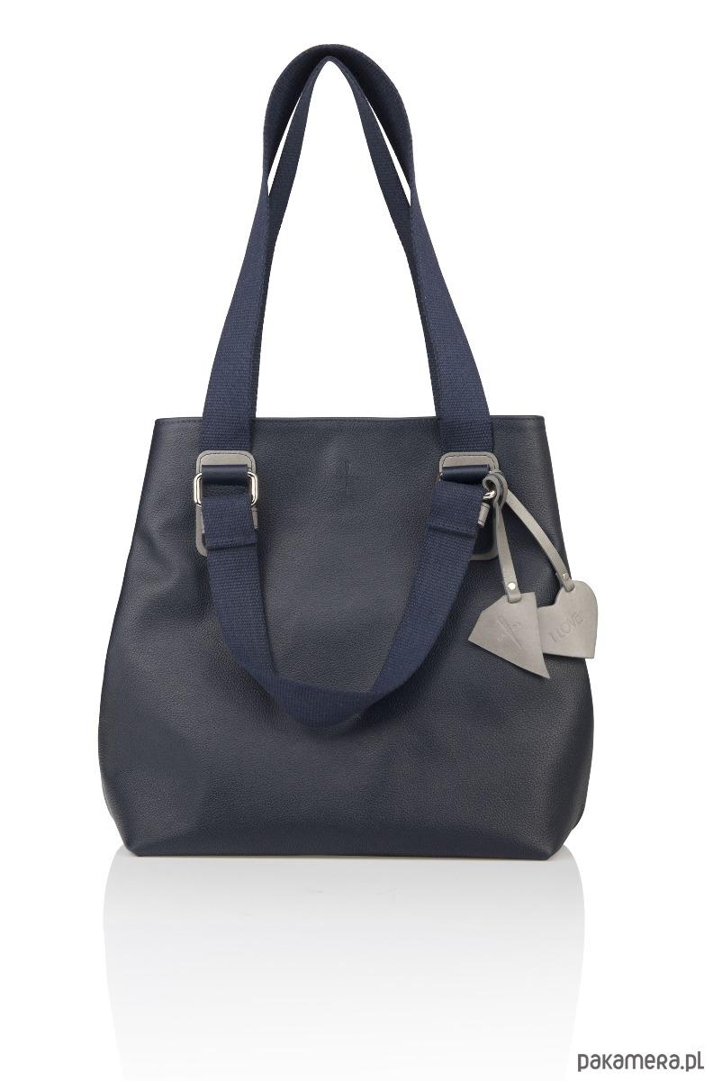 05e4d620c3676 torby na ramię - damskie-Skórzana torebka pasek parciany Alessia G-180