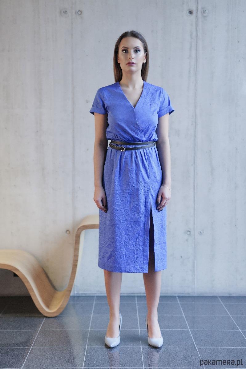 Sukienka TIRA kobaltowa