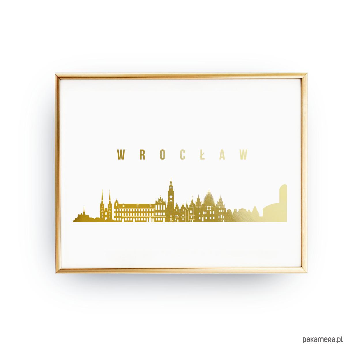 Plakat Wrocław Złoty Druk Pakamerapl