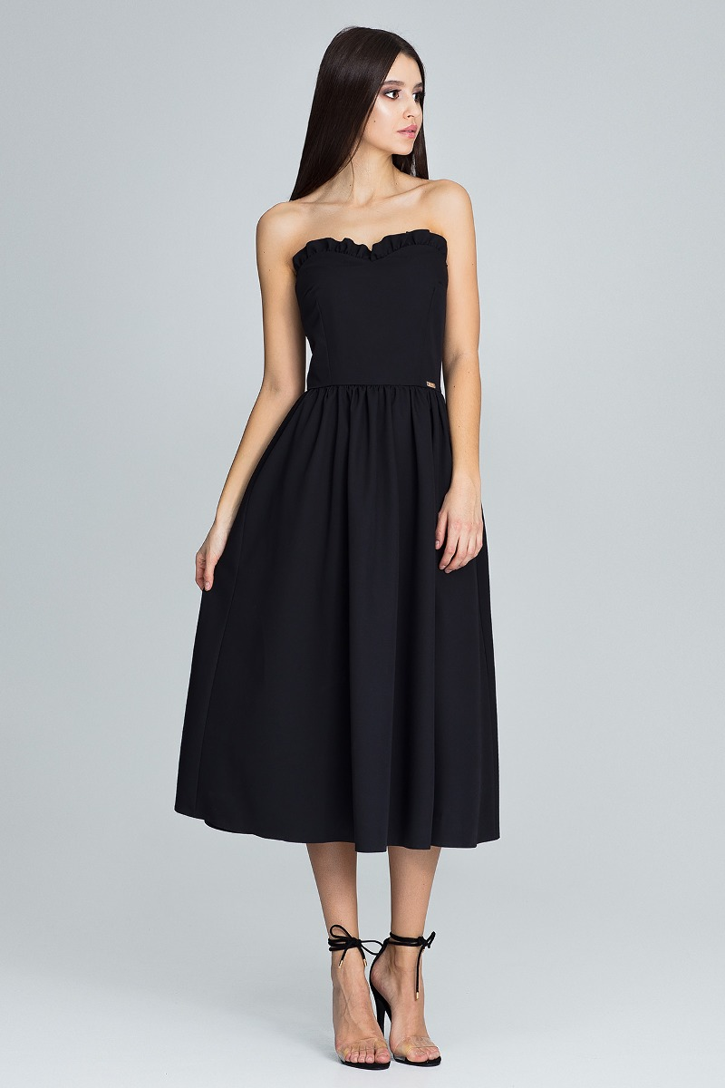 Sukienka midi m602czarny