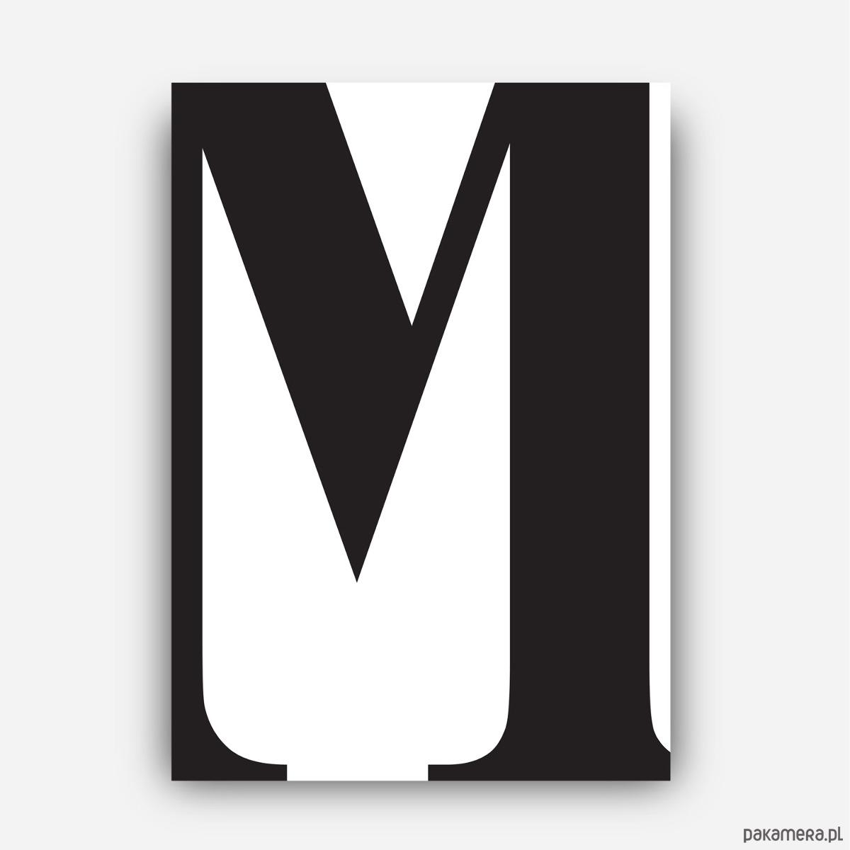 Plakat Typograficzny Litera M Plakaty Pakamerapl
