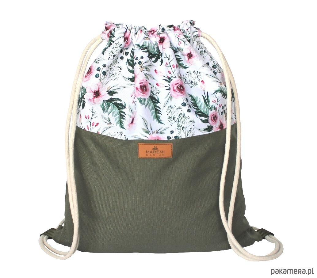 9eed833af809f Plecak worek DZIKIE KWIATY - plecaki - Pakamera.pl
