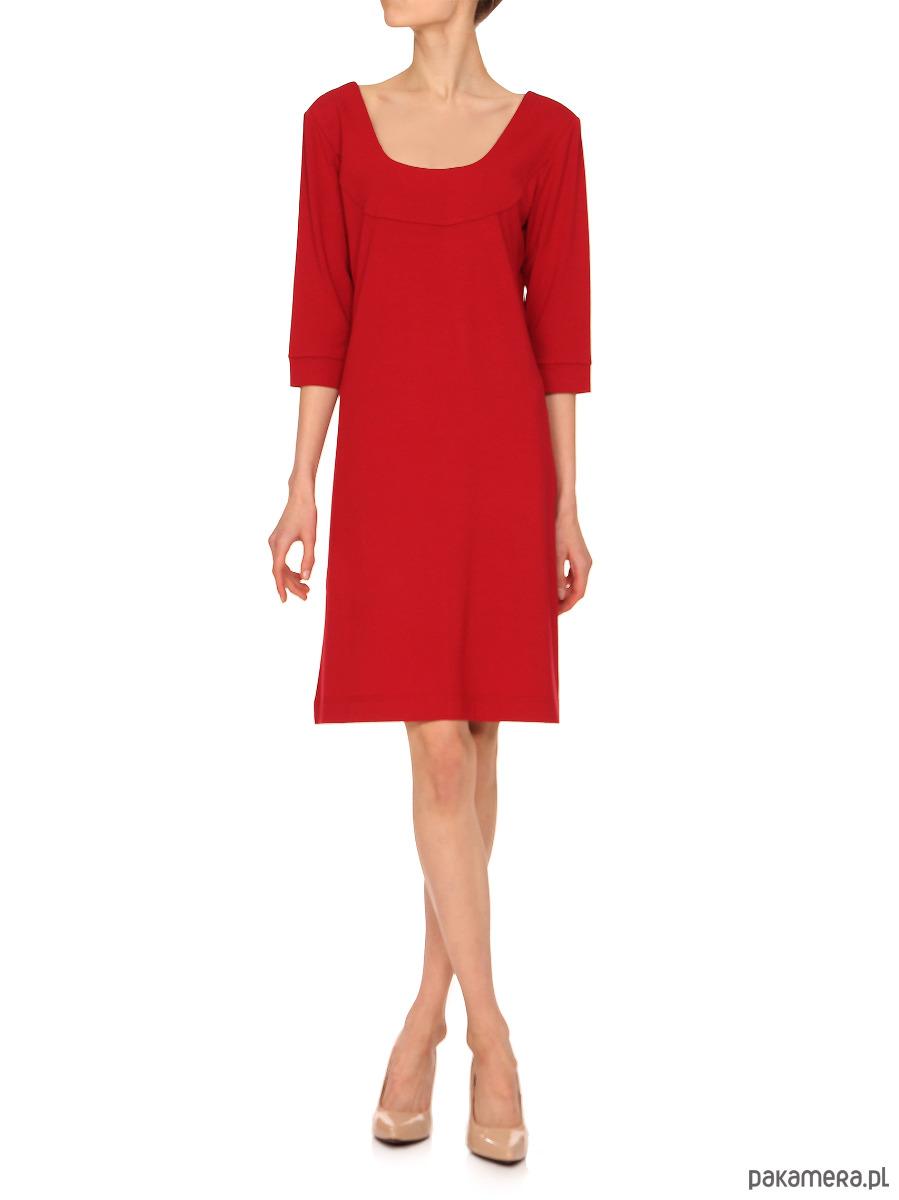 Sukienka czerwona YY200053_RAL3020