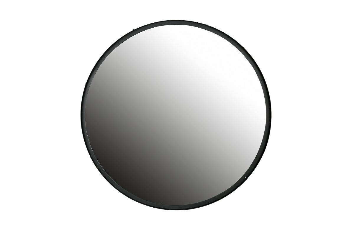 Lustro Okrągłe Czarna Metalowa Rama 80 Cm Meble Lustra Pakamerapl