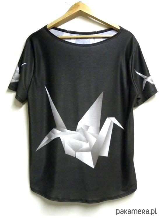Bluzka damska,t-shirt ze wzorem origami S-XL