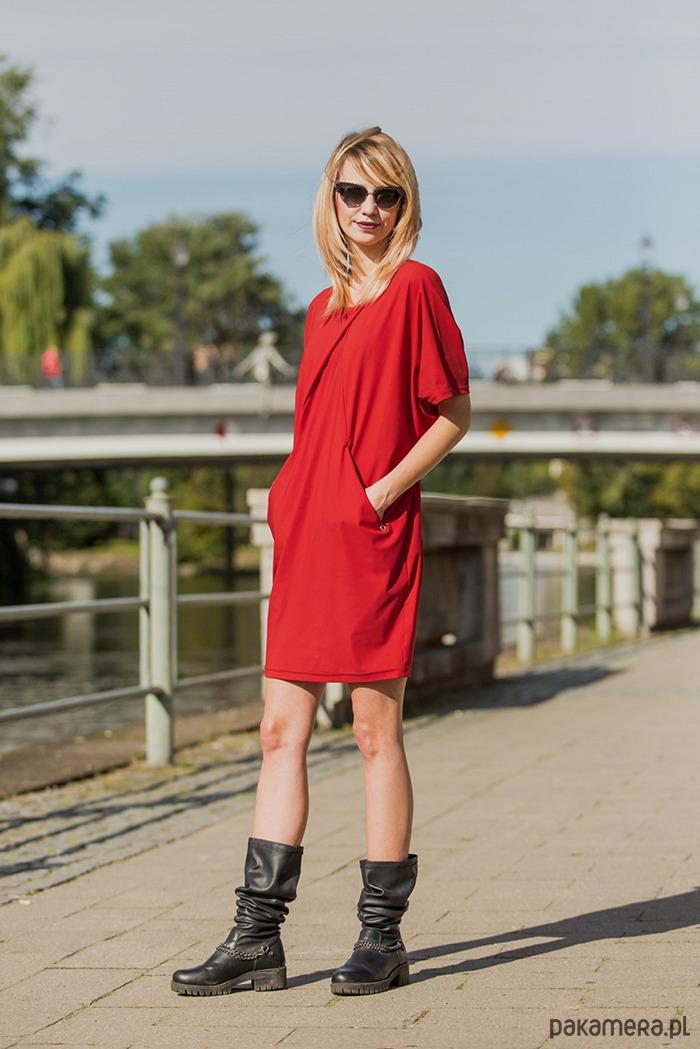 Sukienka damska CAPRI LOOK czerwona
