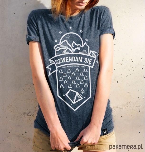 Koszulka damska - Szwendam się NAMIOT jeansowy