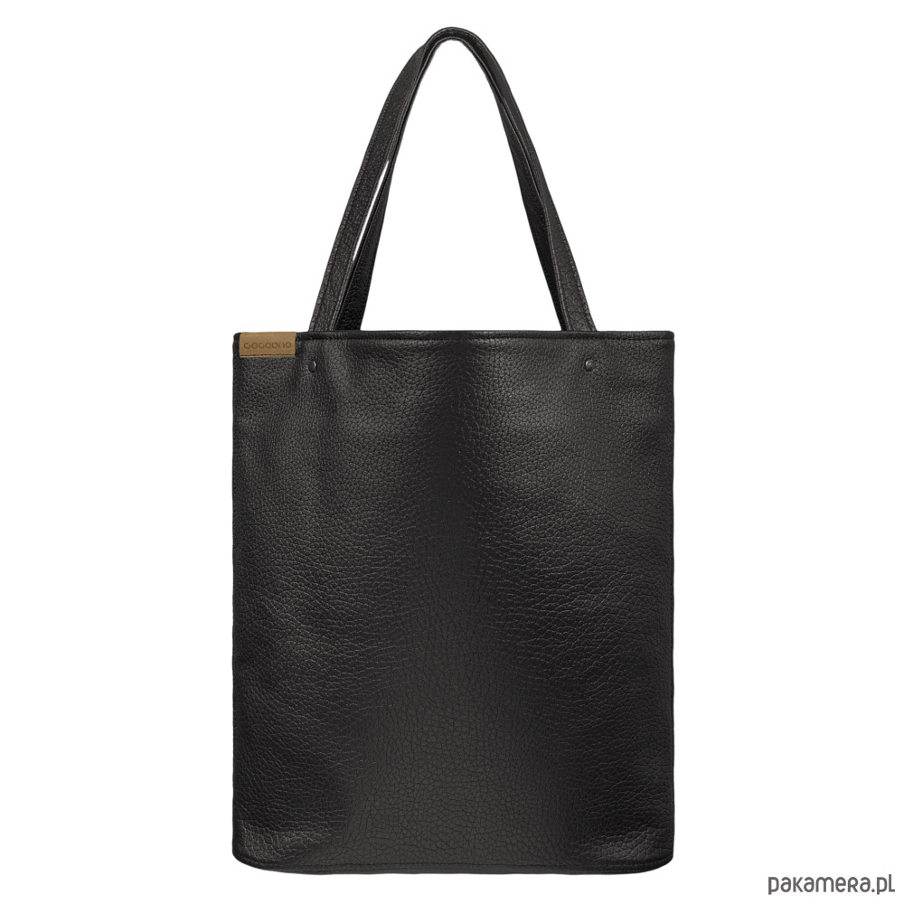 71d7fa3fa3379 torby na ramię - damskie-Shopper XL torba czarna z teksturą na zamek
