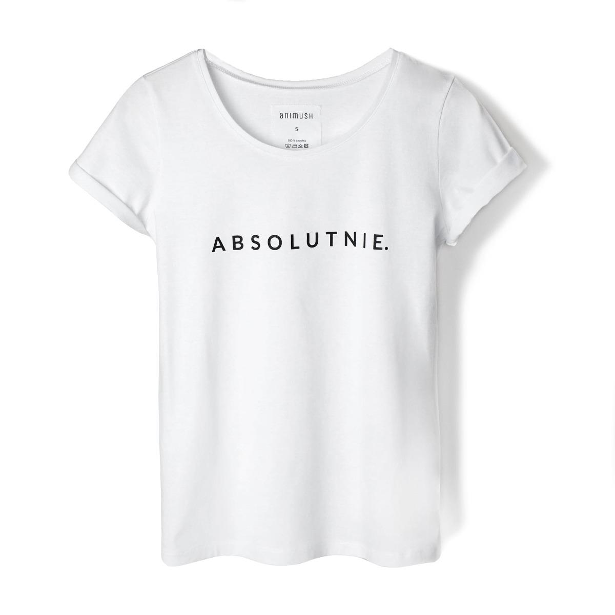 T-shirt biały ABSOLUTNIE.