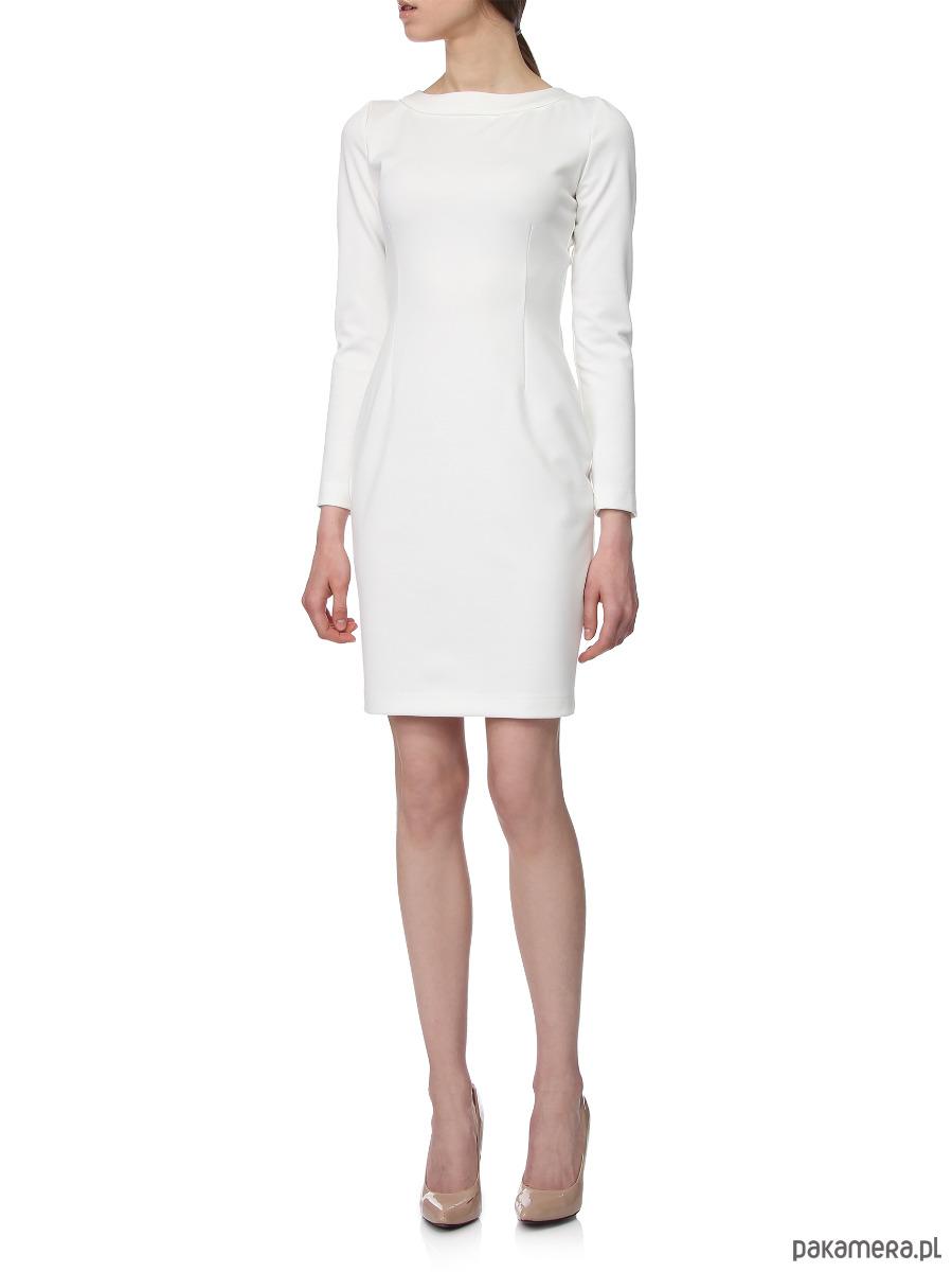 Sukienka ecru YY100084_RAL9001