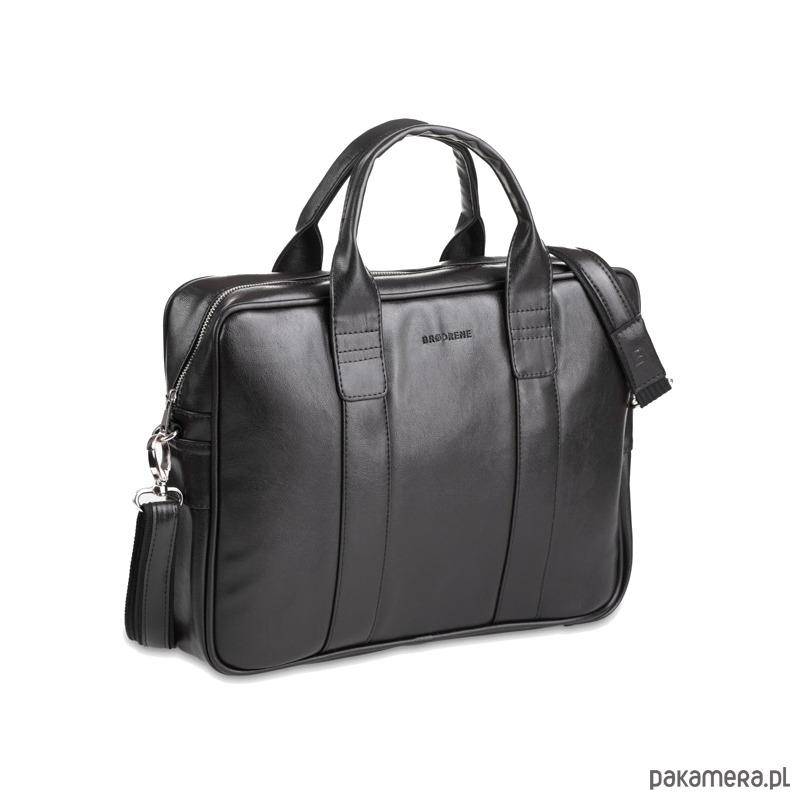 dcdc0fc9b5925 Czarna skórzana torba na ramię - akcesoria - torby i nerki - męskie ...