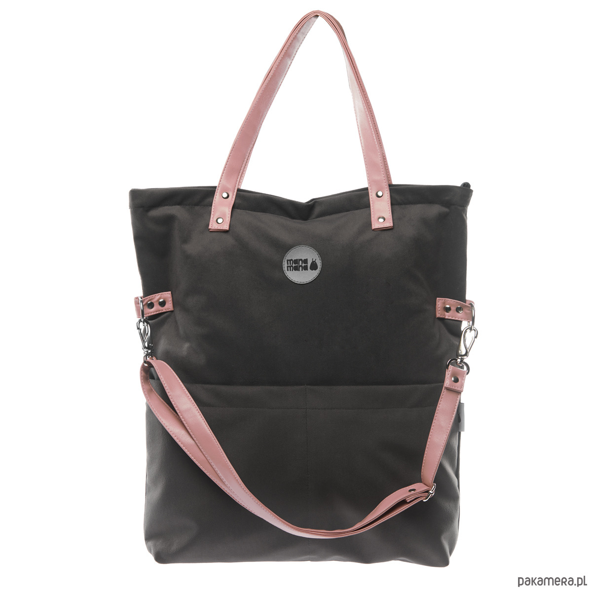 9d2be07f4153d torby na ramię - damskie-Torba Damska Cube Zamsz Grafit #Pudrowy róż