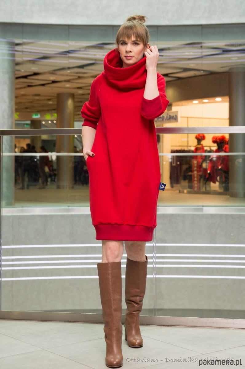 af041d85f Sukienka do Karmienia dresowa z wielkim kominem - sukienki - różne ...