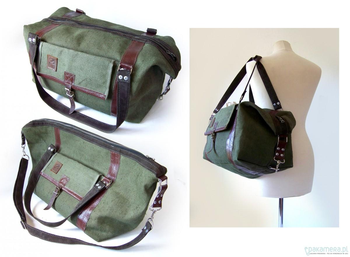 ae4d45370b86c Pojemna torba z worka militarnego - upcykling · trykot249