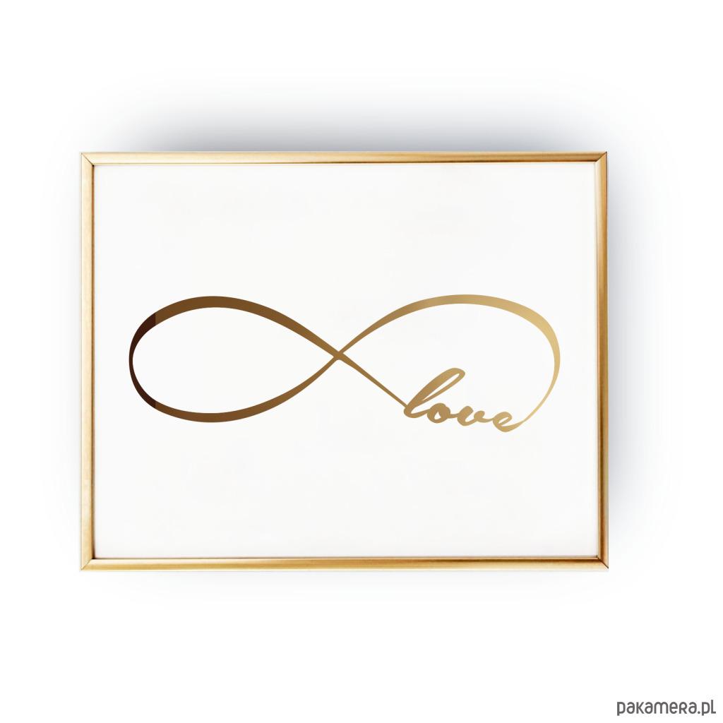 Plakat Nieskończona Miłość Złoty Druk Pakamerapl