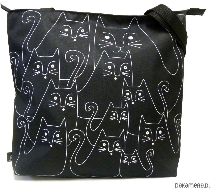 c9a46f5795afa Duża torba na zamek z autorskim motywem ) - torby XXL - damskie ...
