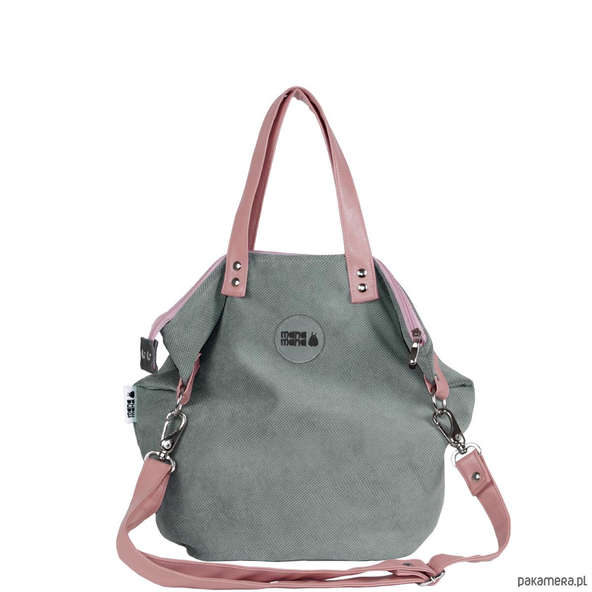 2215d2ca1ead8 torby na ramię - damskie-Worek Small Z Tkaniny Z Uchwytami Pudrowy Róż
