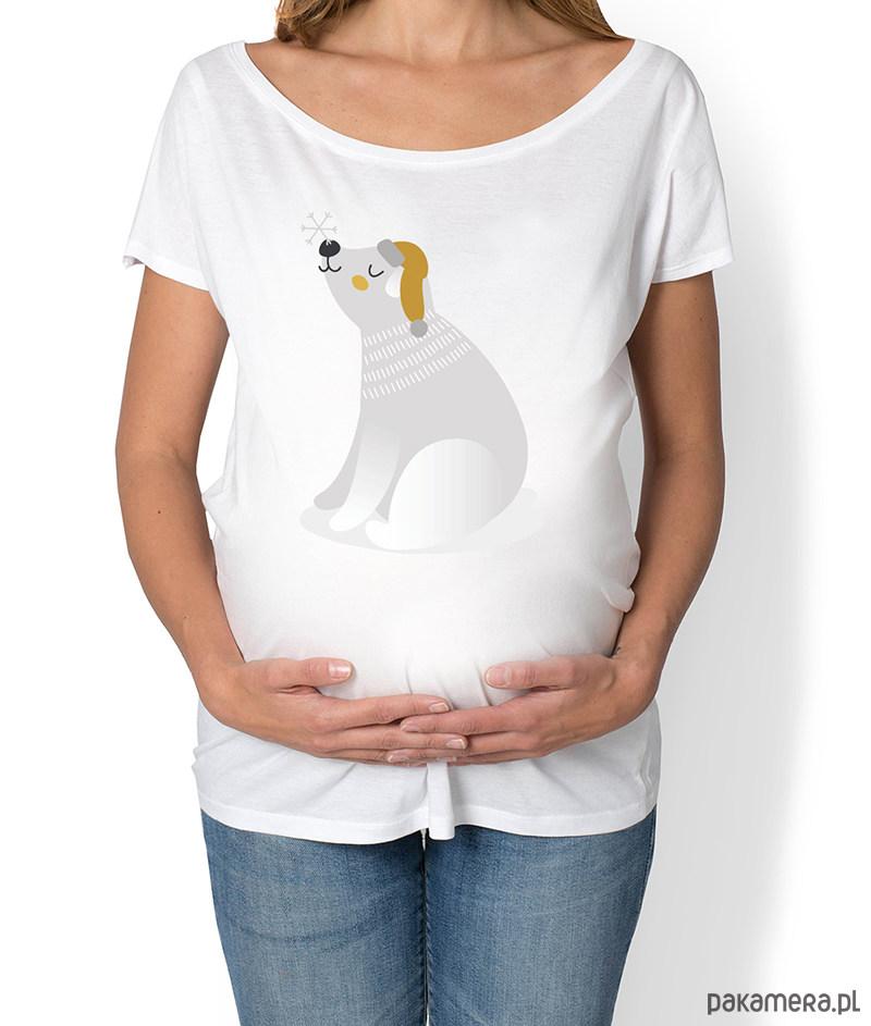 koszulka damska, ciążowa z misiem polarnym