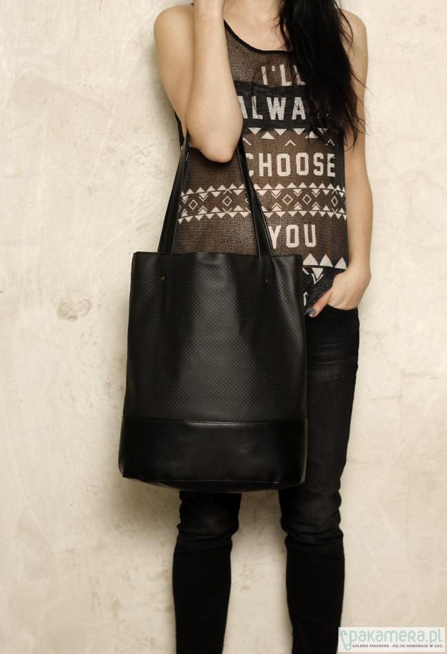 04ad63d6bb47a Shopper bag xl czarna - torby na ramię - damskie - Pakamera.pl