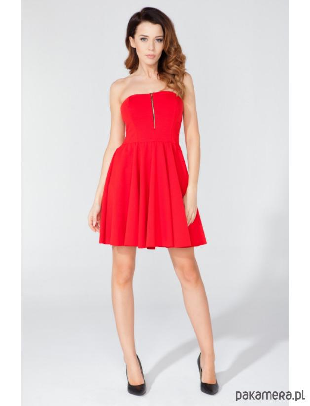 Rozkloszowana elegancka wieczorowa sukienka