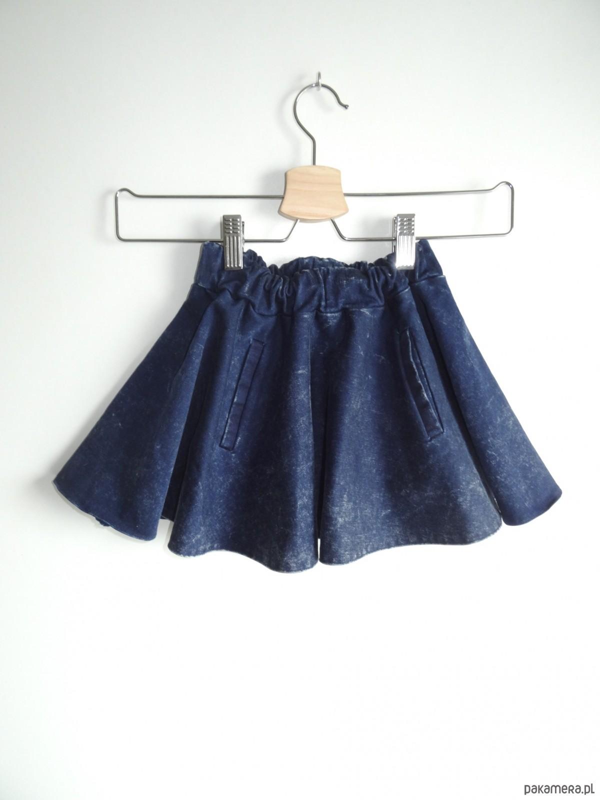 Spódniczka jeansowa niebieska marmurkowa