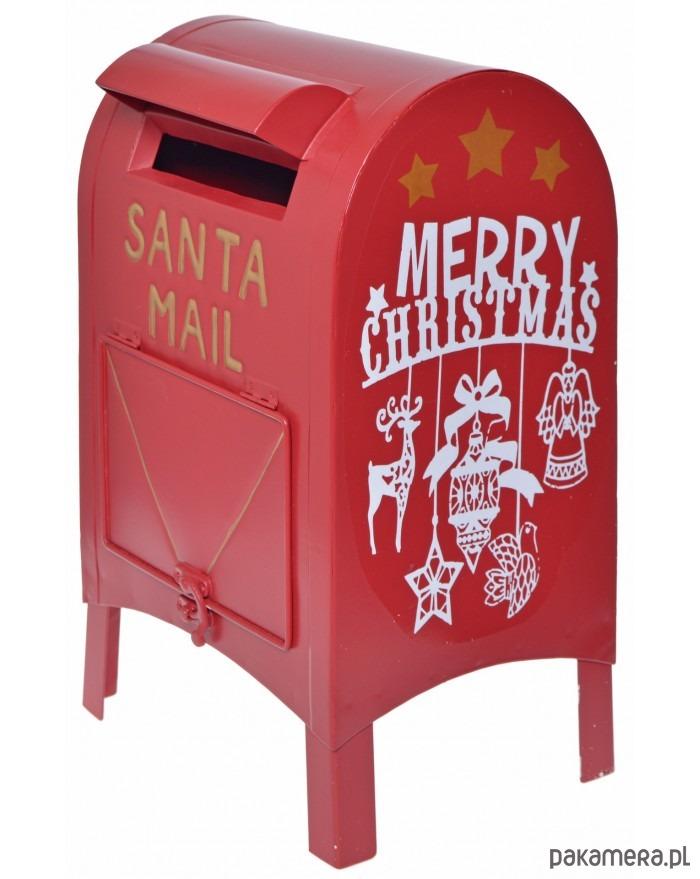 Skrzynka Na Listy Santa Mail Boże Narodzenie Dekoracje Pakamera Pl