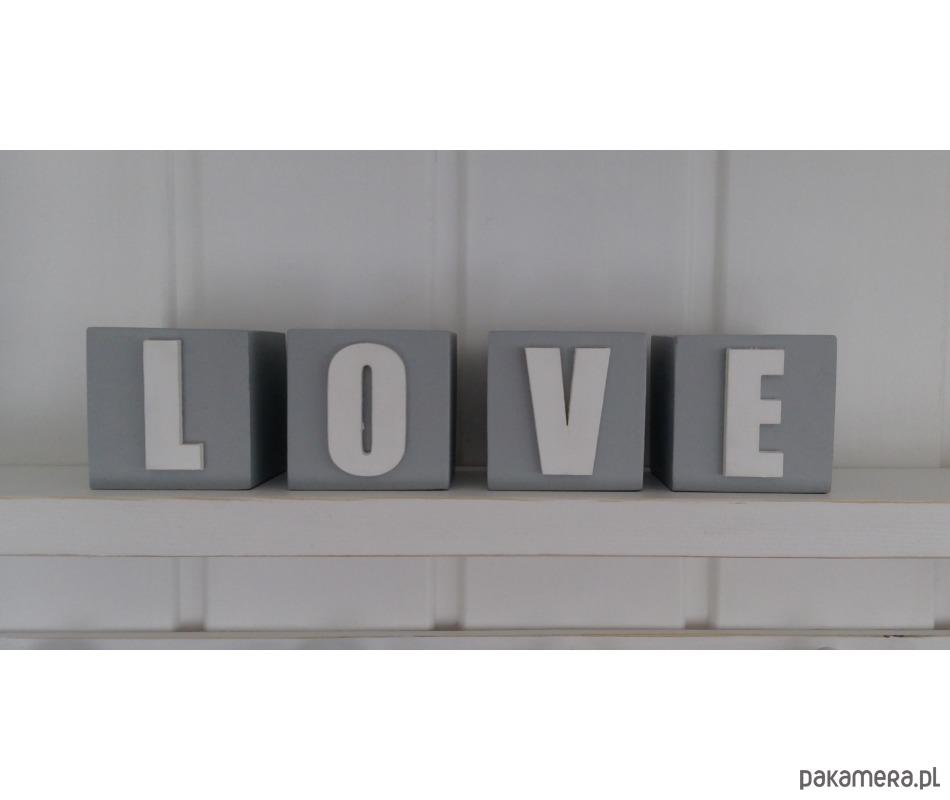 Drewniane Kostki Love Pakamerapl