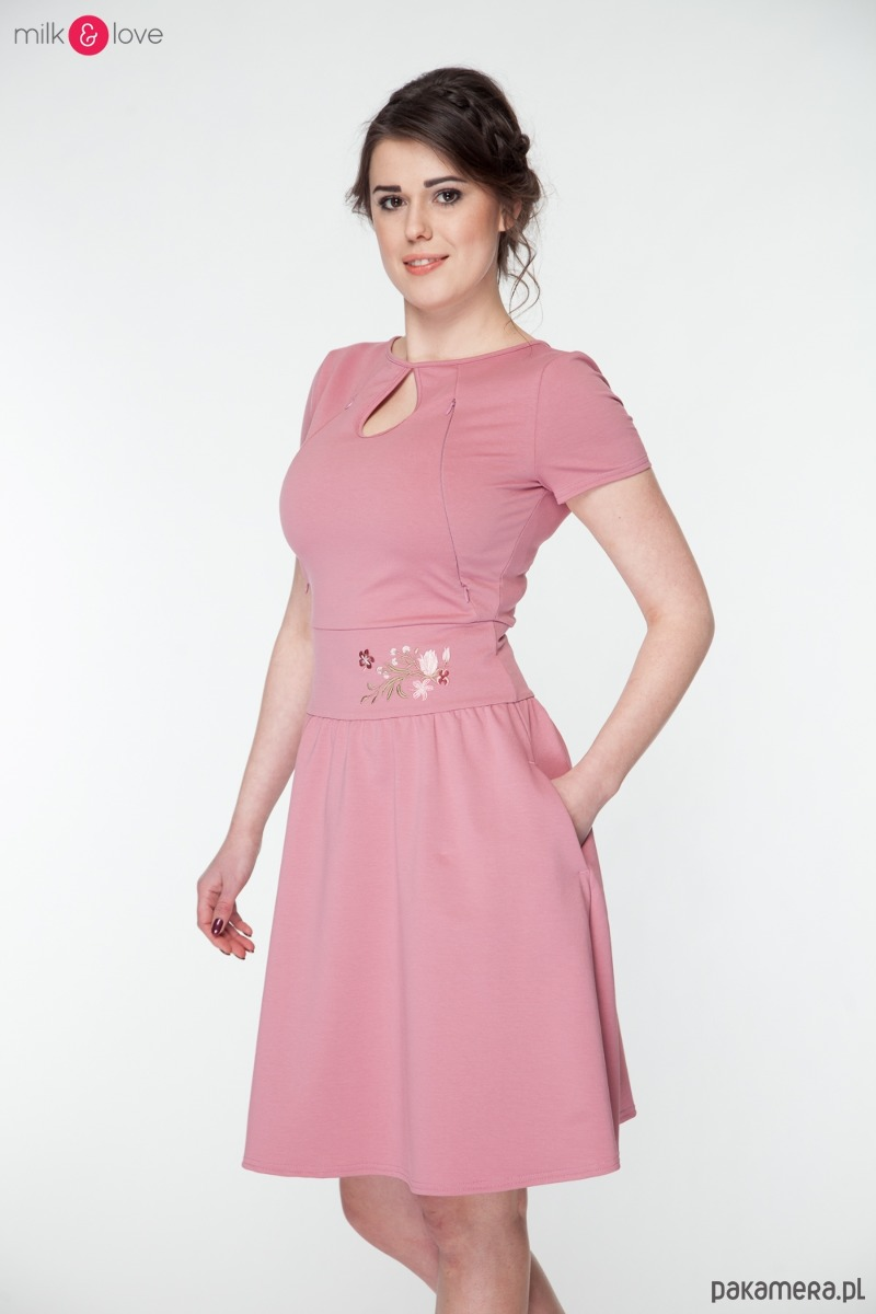 5c2e5acf27 Sukienka do karmienia Milk Drop krótki rękaw - mama - do karmienia -  Pakamera.pl