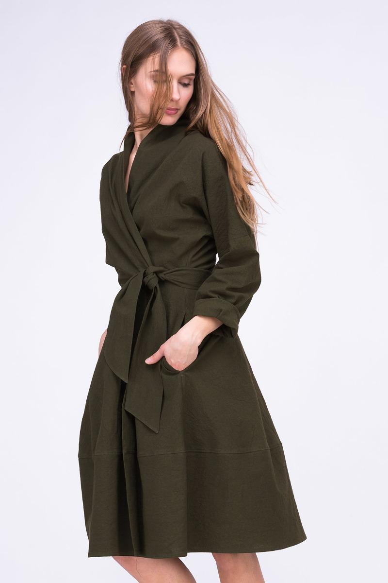 Sukienka- Płaszcz POLARIS Khaki