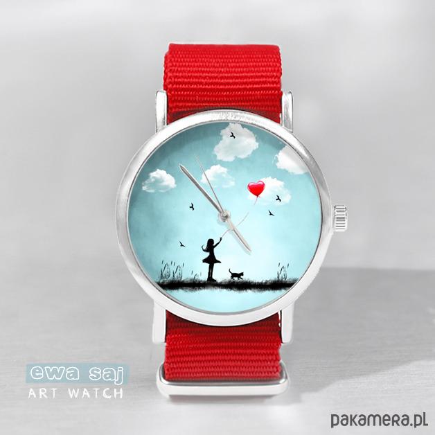 - 12 % Zegarek Star Girl Love Obłoki - bransoletki - na sznurku