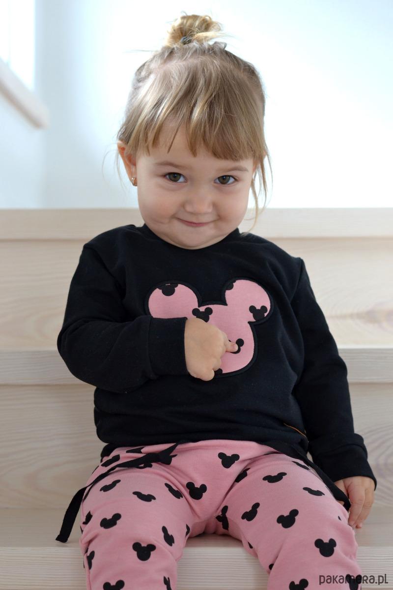 fef577e45e5e1f dziewczynka - bluzy - dziewczynka-Czarna bluza Myszka Miki, Mickey Mouse ...