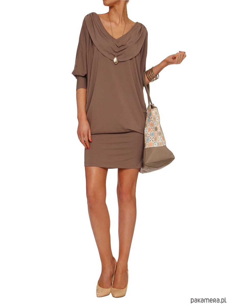 Sukienka beżowa YY100101_RAL8025