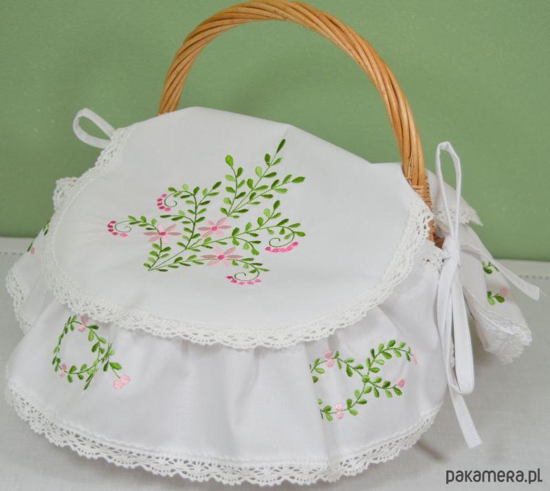 Koszyk Wielkanocny BUKSZPAN haftowany z SERWETKĄ - 2042616