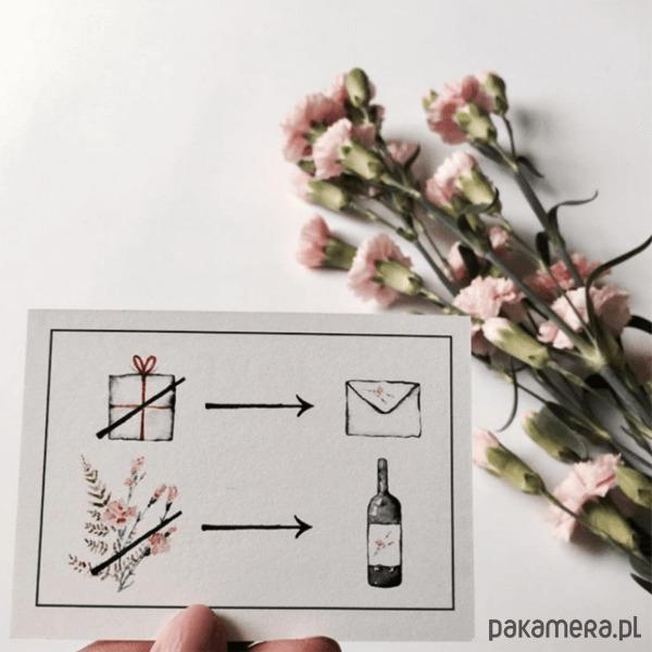 Rebus Pink Carnation ślub Zaproszenia Kartki Pakamerapl