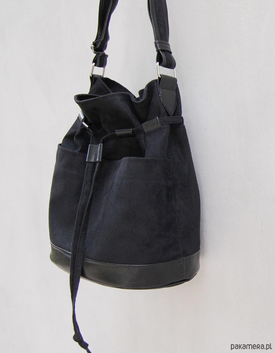 576eee29e30cb YOCCA - torba worek - czarna - torby na ramię - damskie - Pakamera.pl