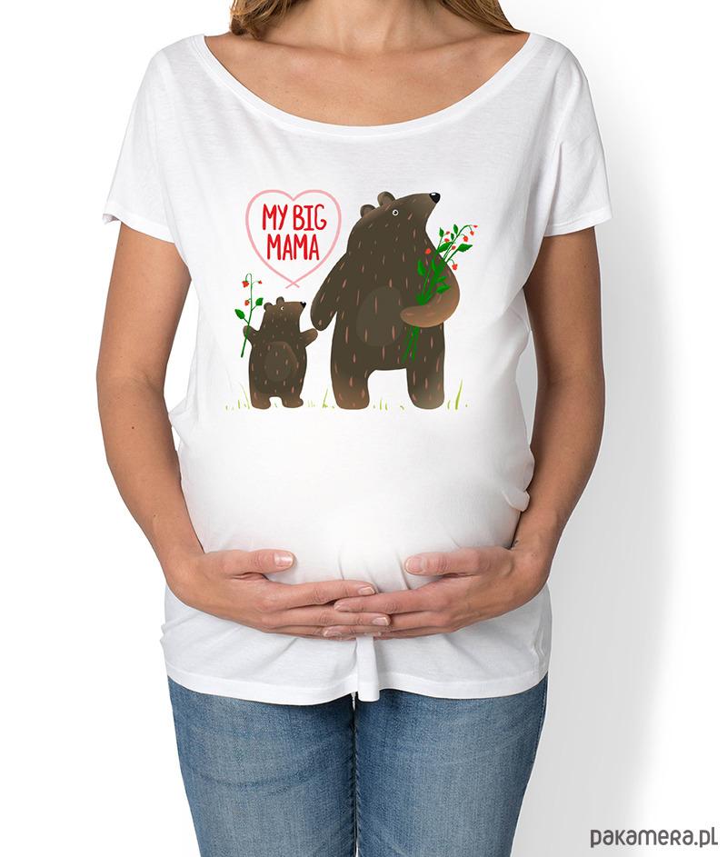 koszulka ciążowa. Zwierzęta leśne, My big mama