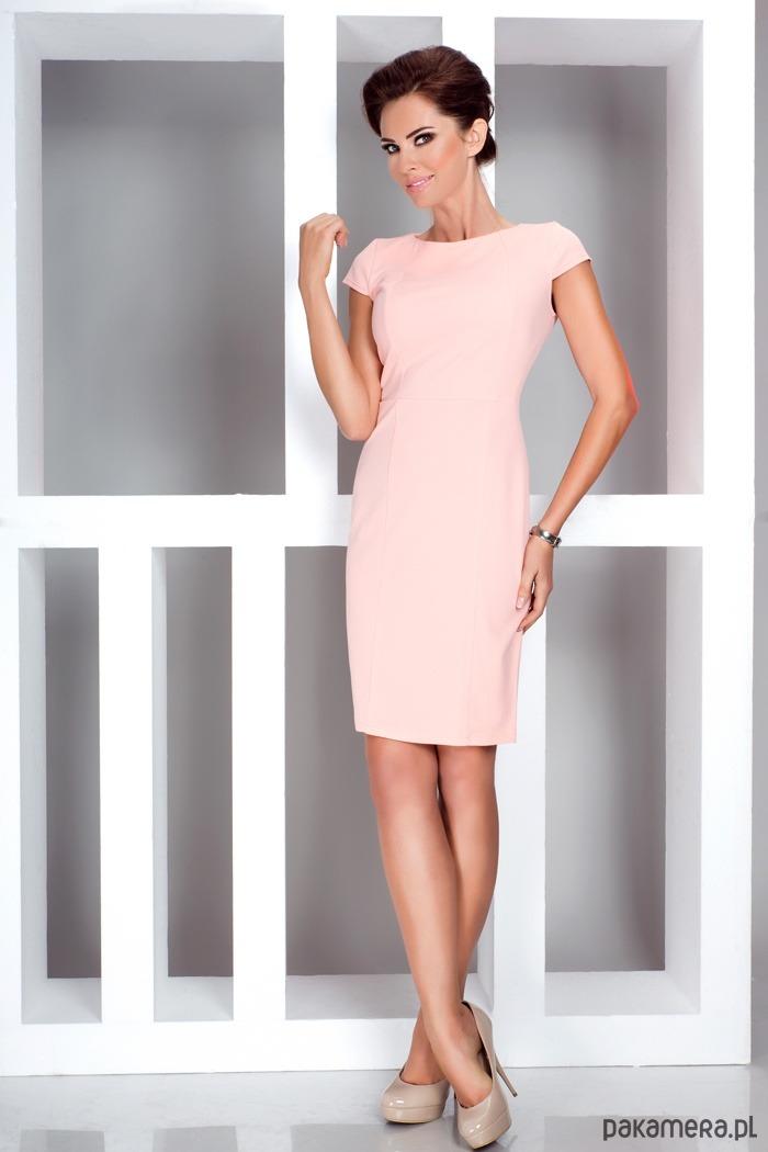 d1826bec34 Sukienka wizytowa EMMA brzoskwiniowa XL - sukienki - różne - Pakamera.pl